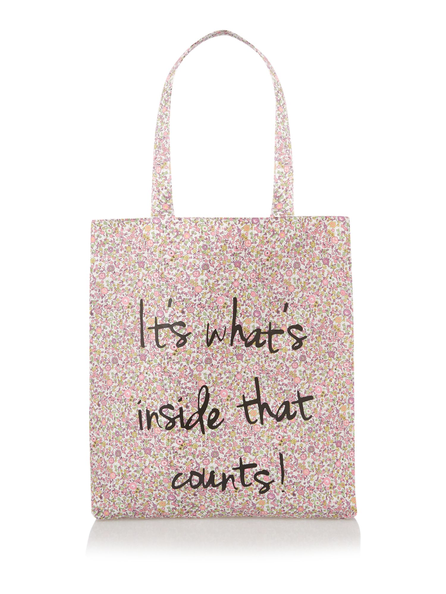 Multi coloured entry shopper bag