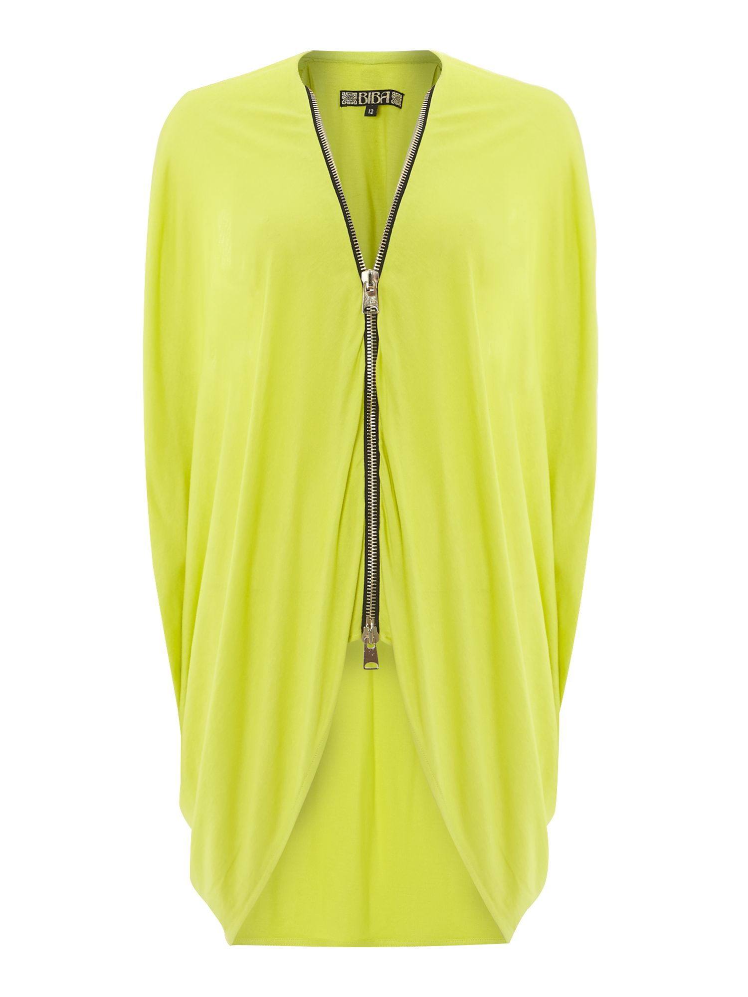 Zip up front jersey tunic top