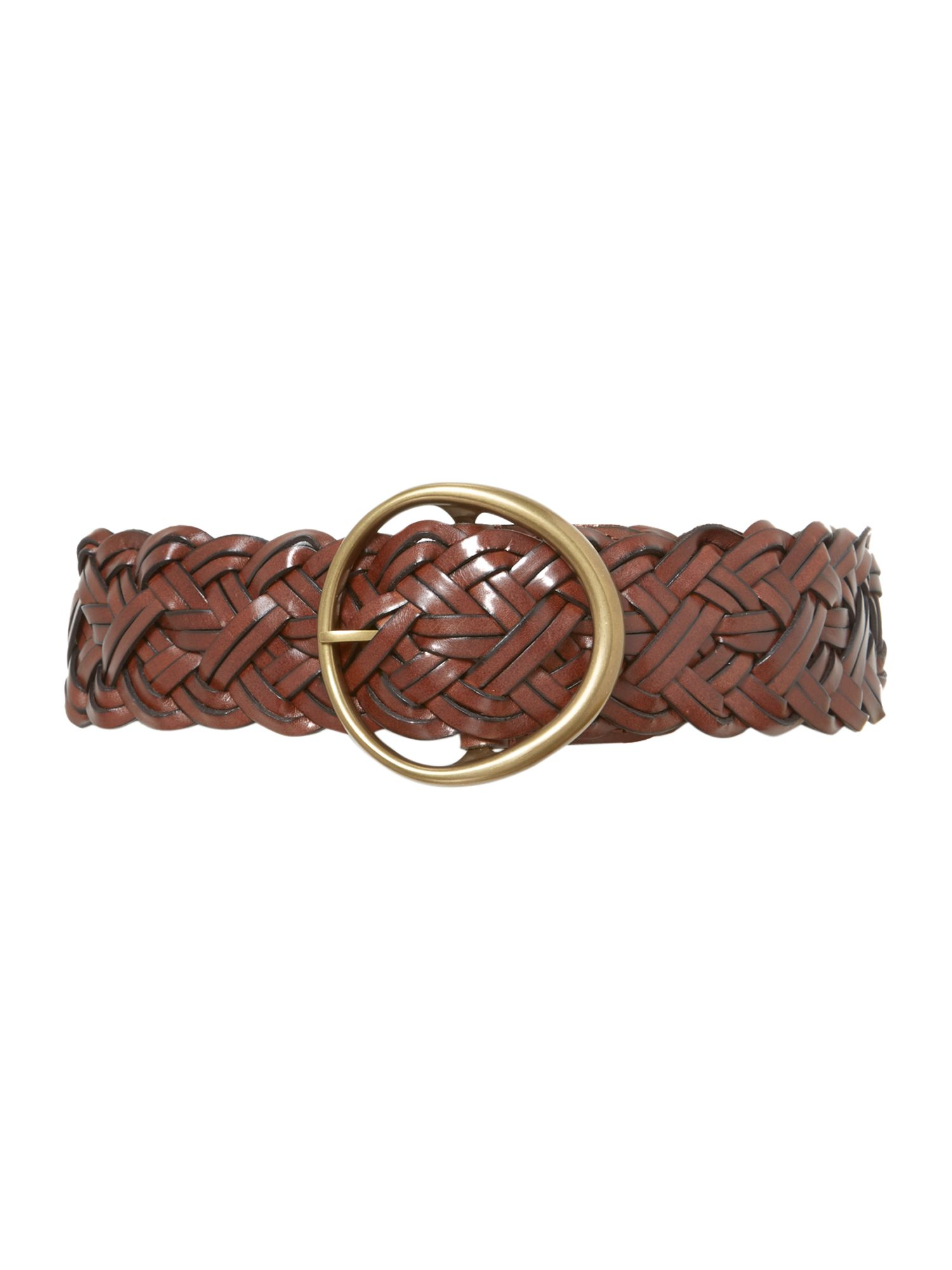 Braided eco-leather belt