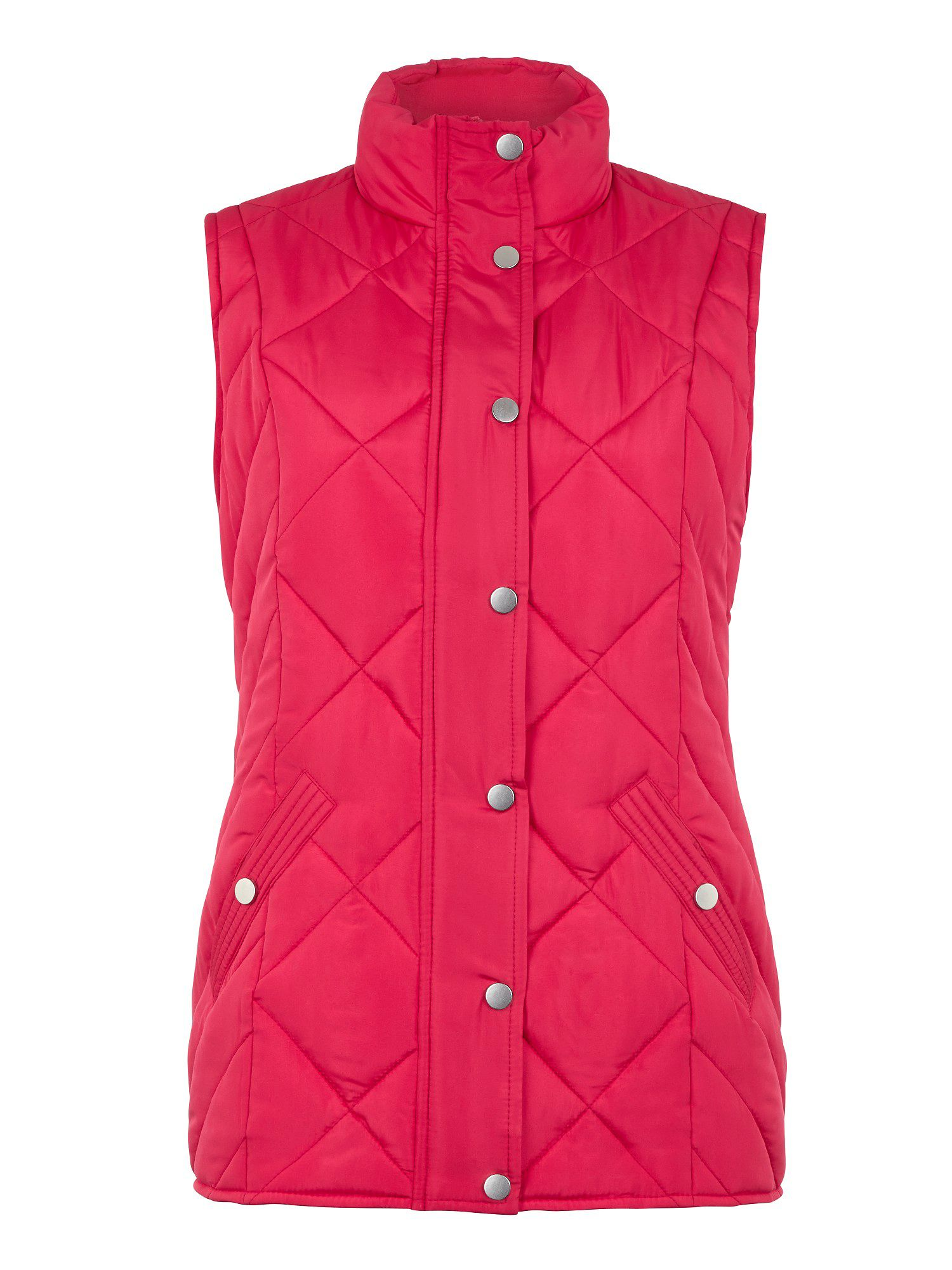 Raspberry heavy padded gilet