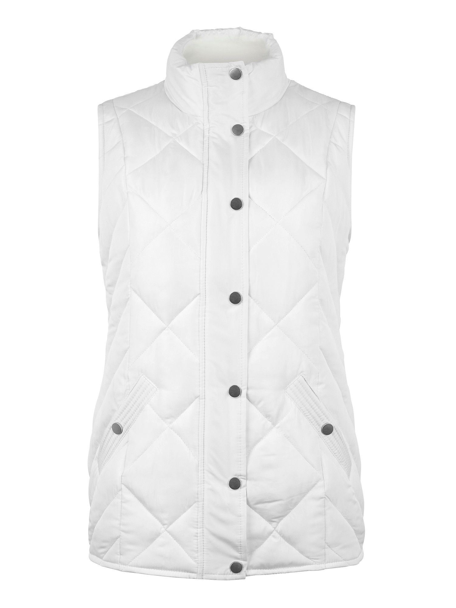 Cream heavy padded gilet