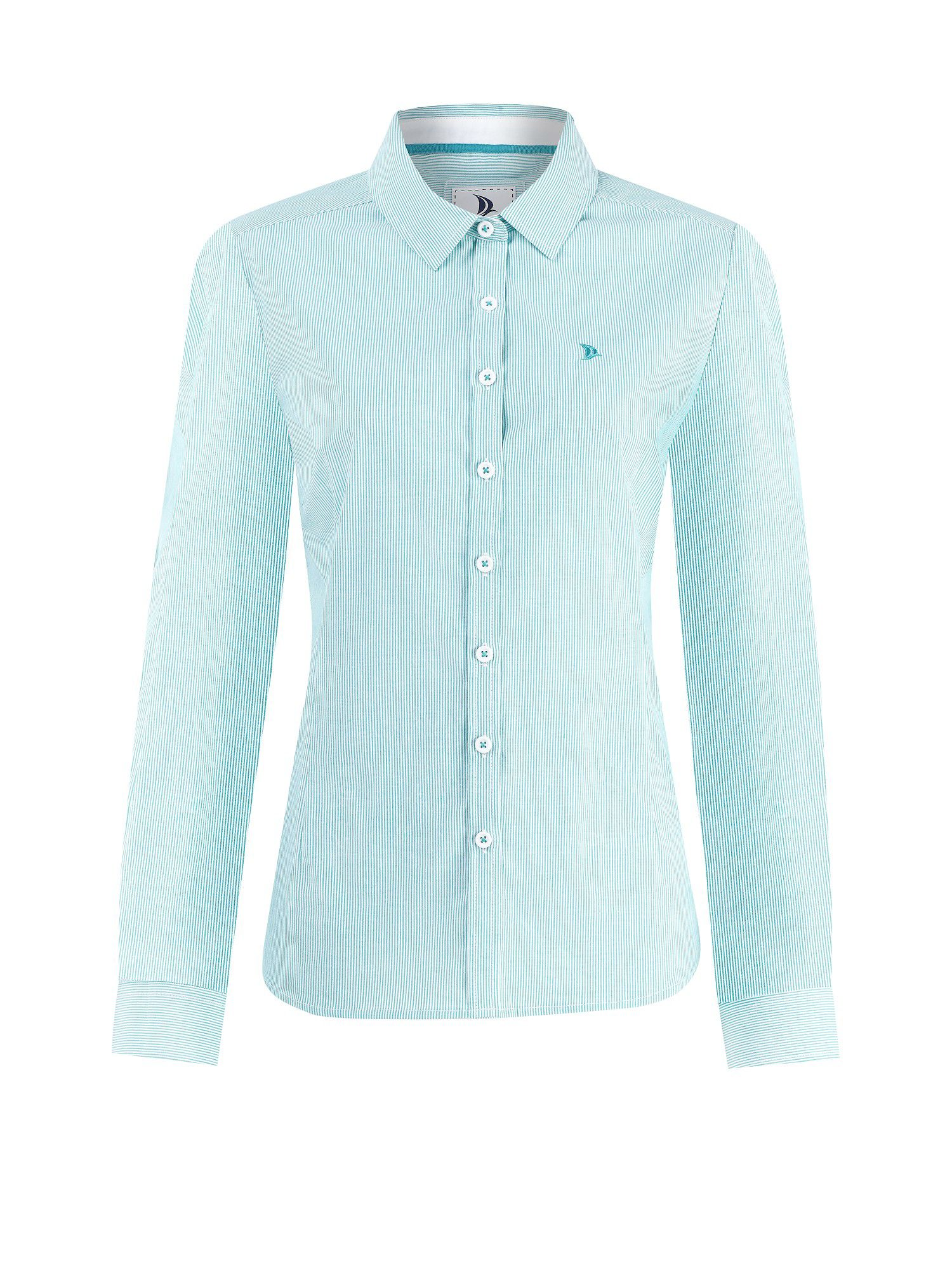 Long sleeve jade stripe shirt