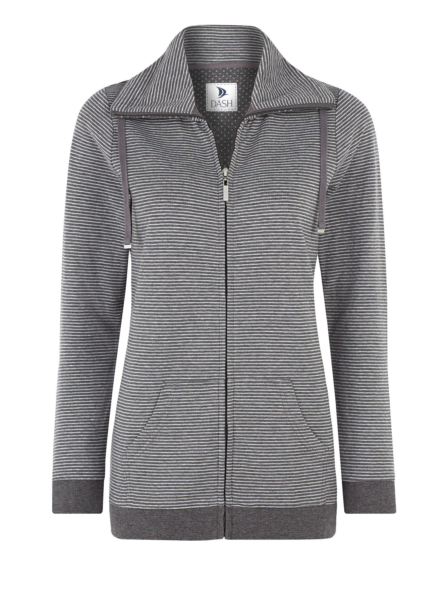 Grey stripe jersey jacket