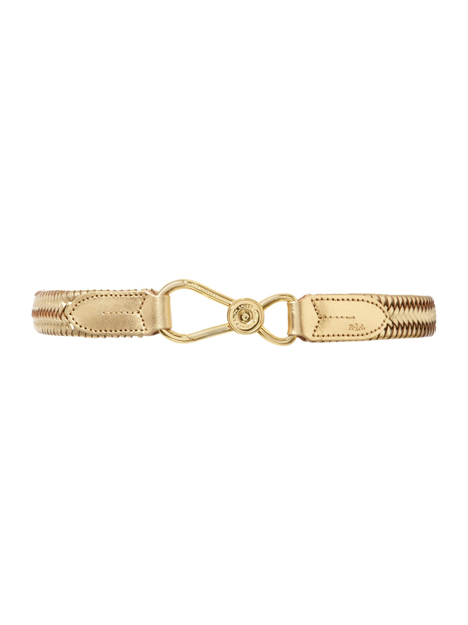 Stretch belt with nautical style hook