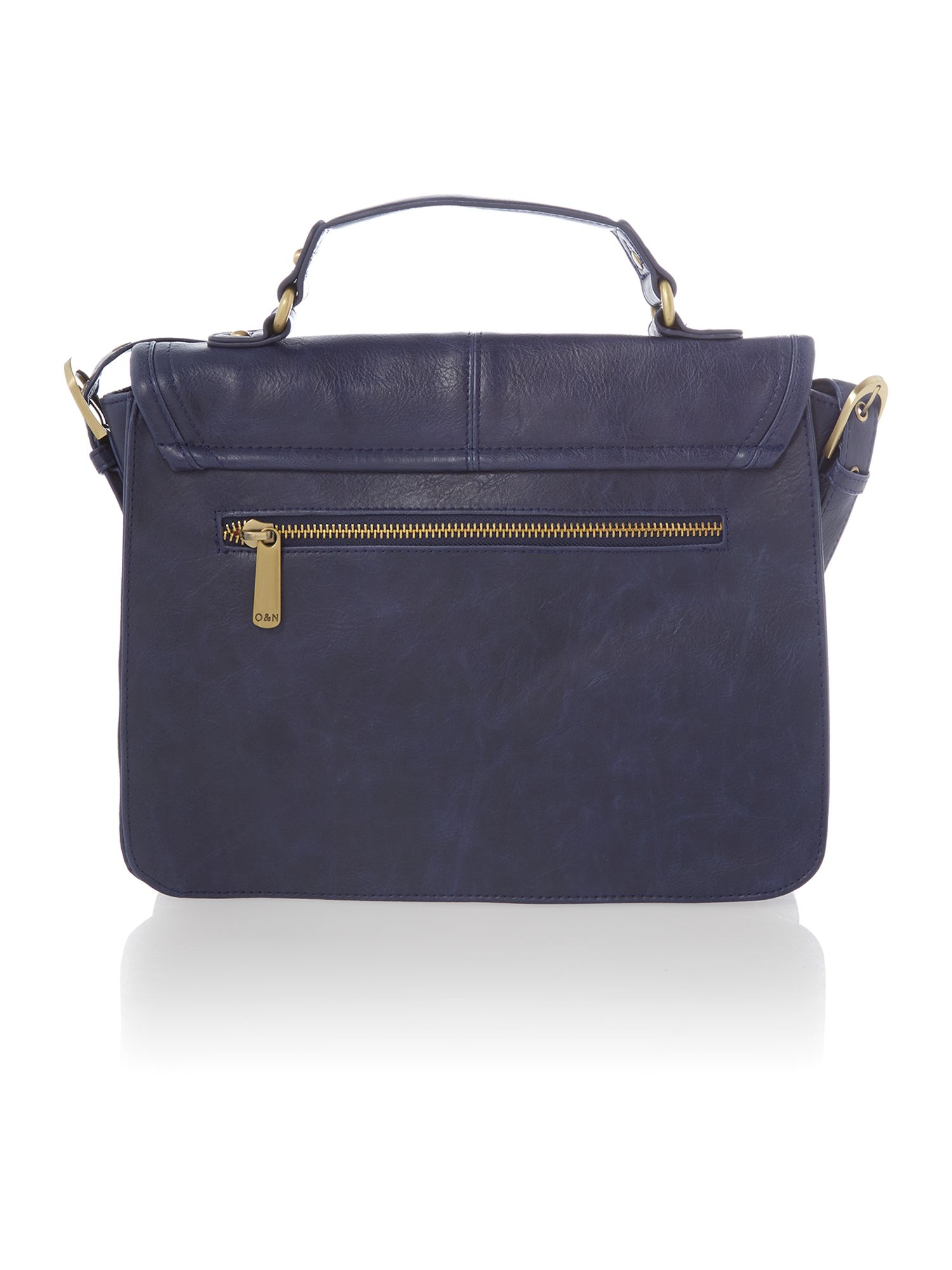 Georgina navy small satchel