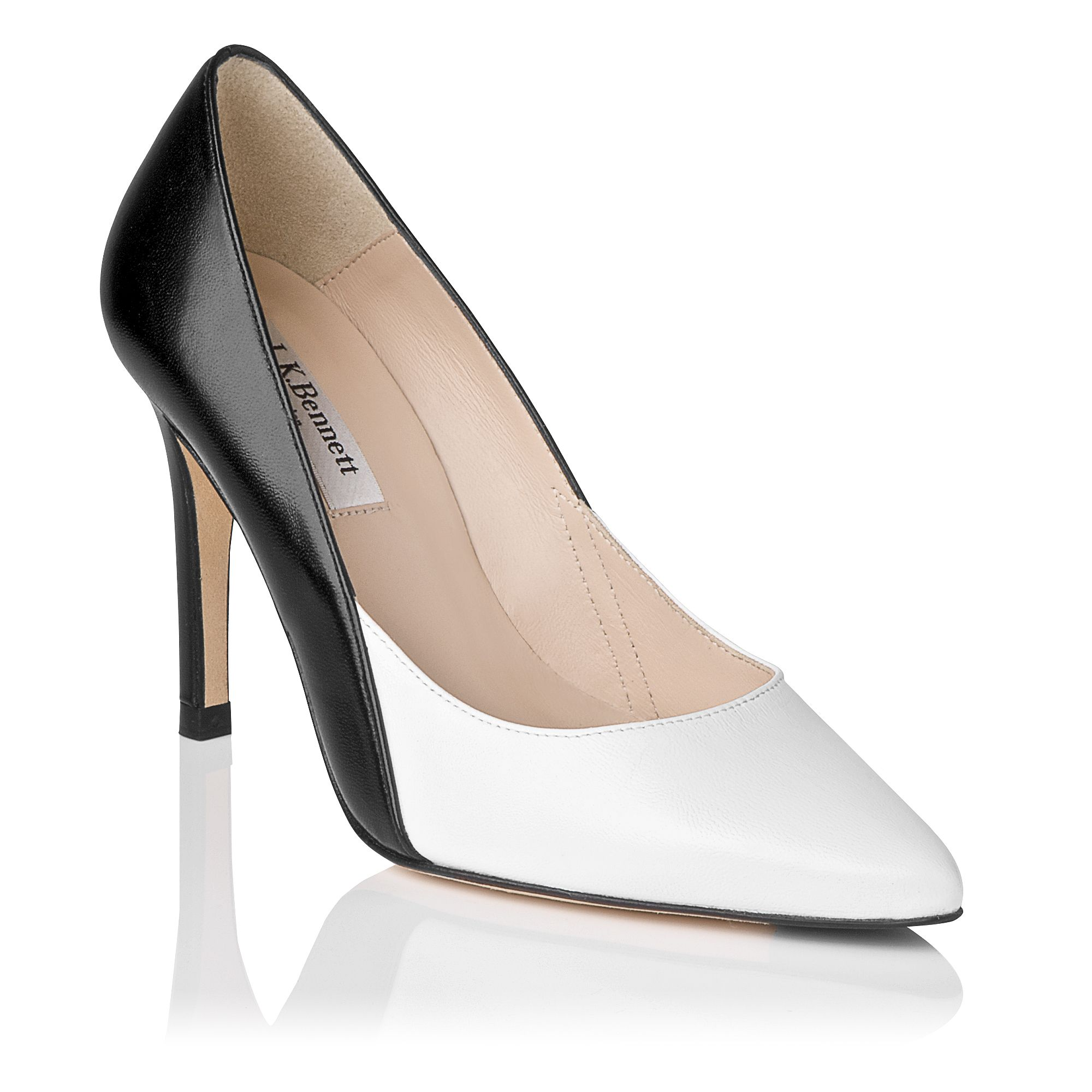 Jennie leather stiletto point court shoes