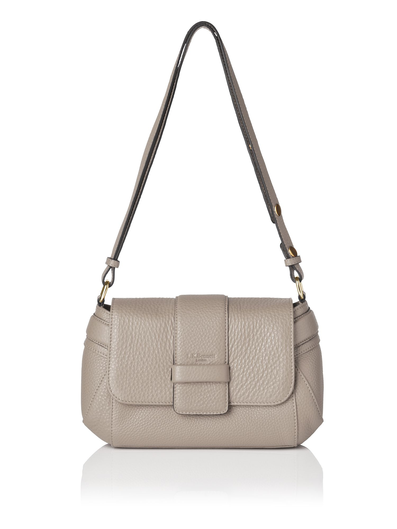 Mabel grained leather shoulder bag