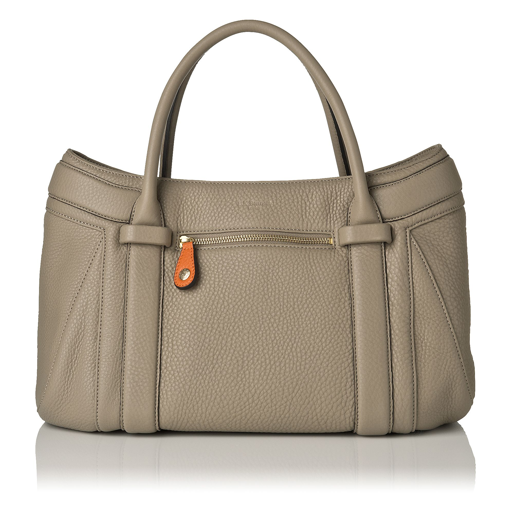 Milly grained leather tote bag