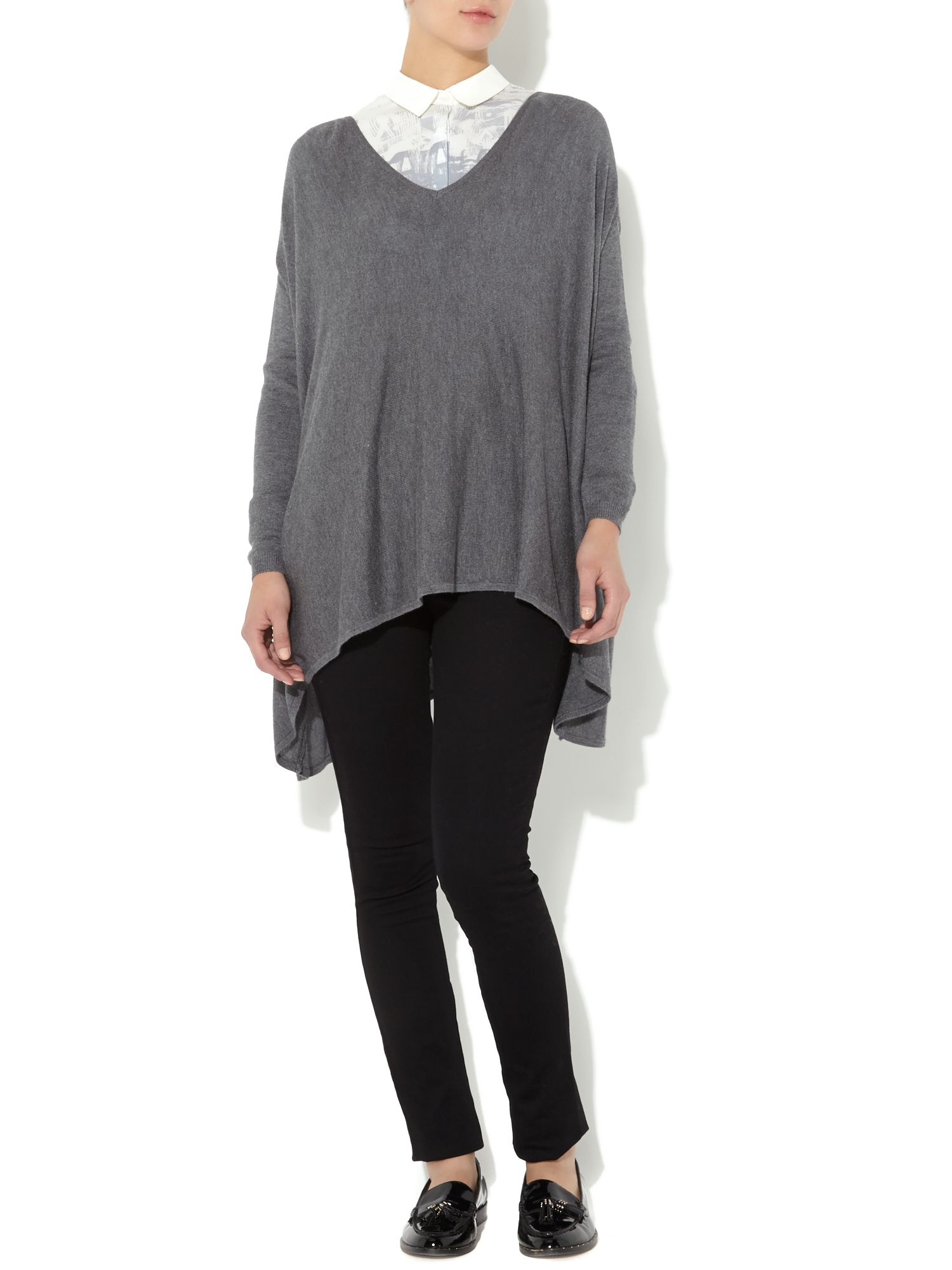 Oversized square knit