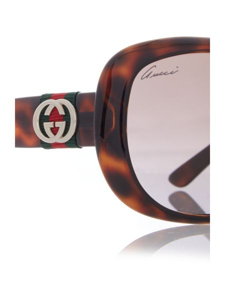 Gucci Women`s square sunglasses