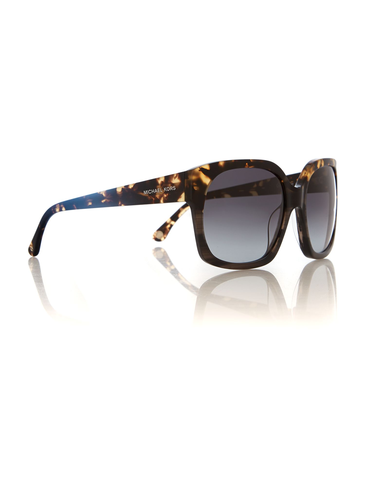 Women brown grad rectangle sunglasses