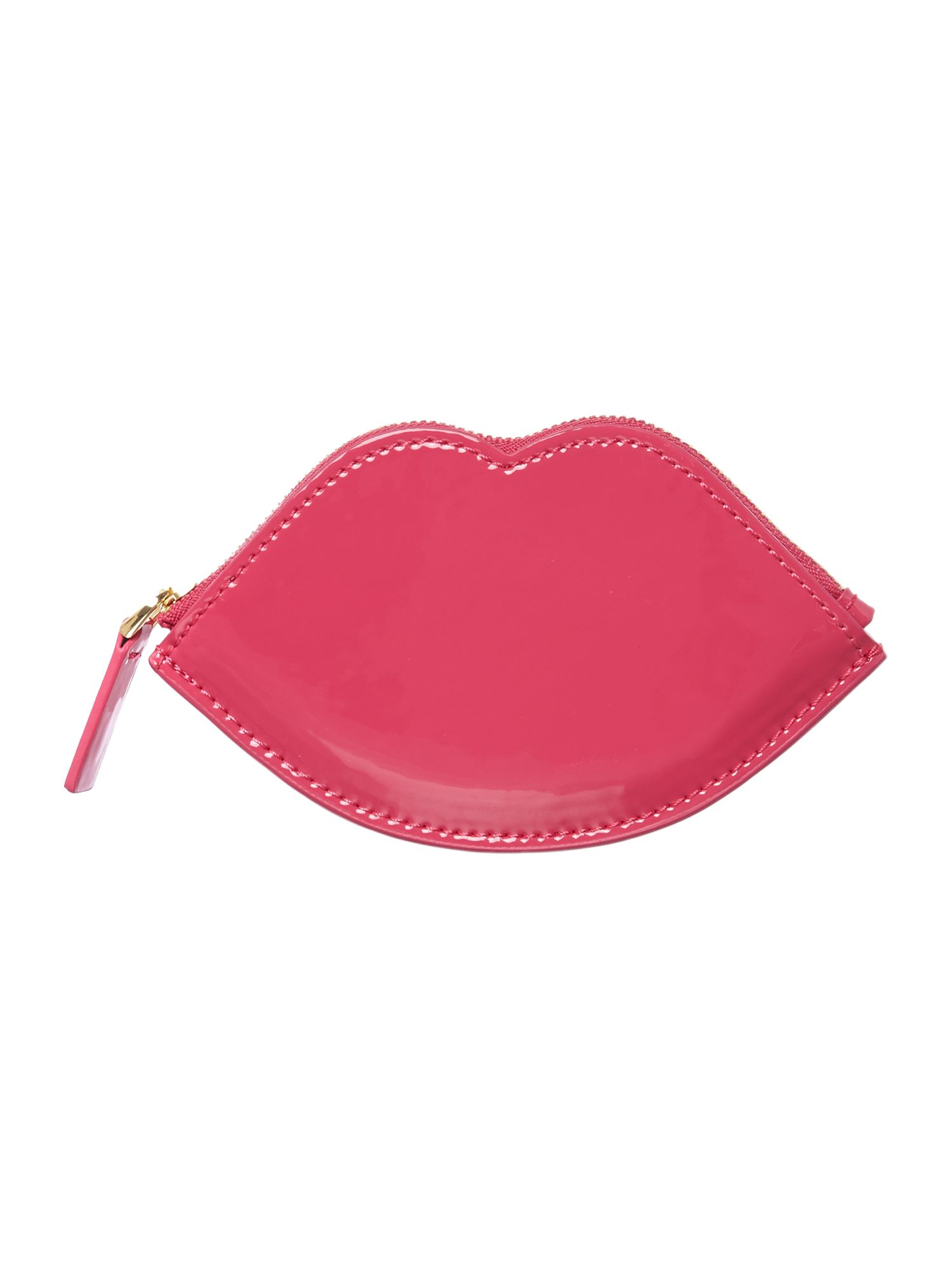 Red patent coin purse