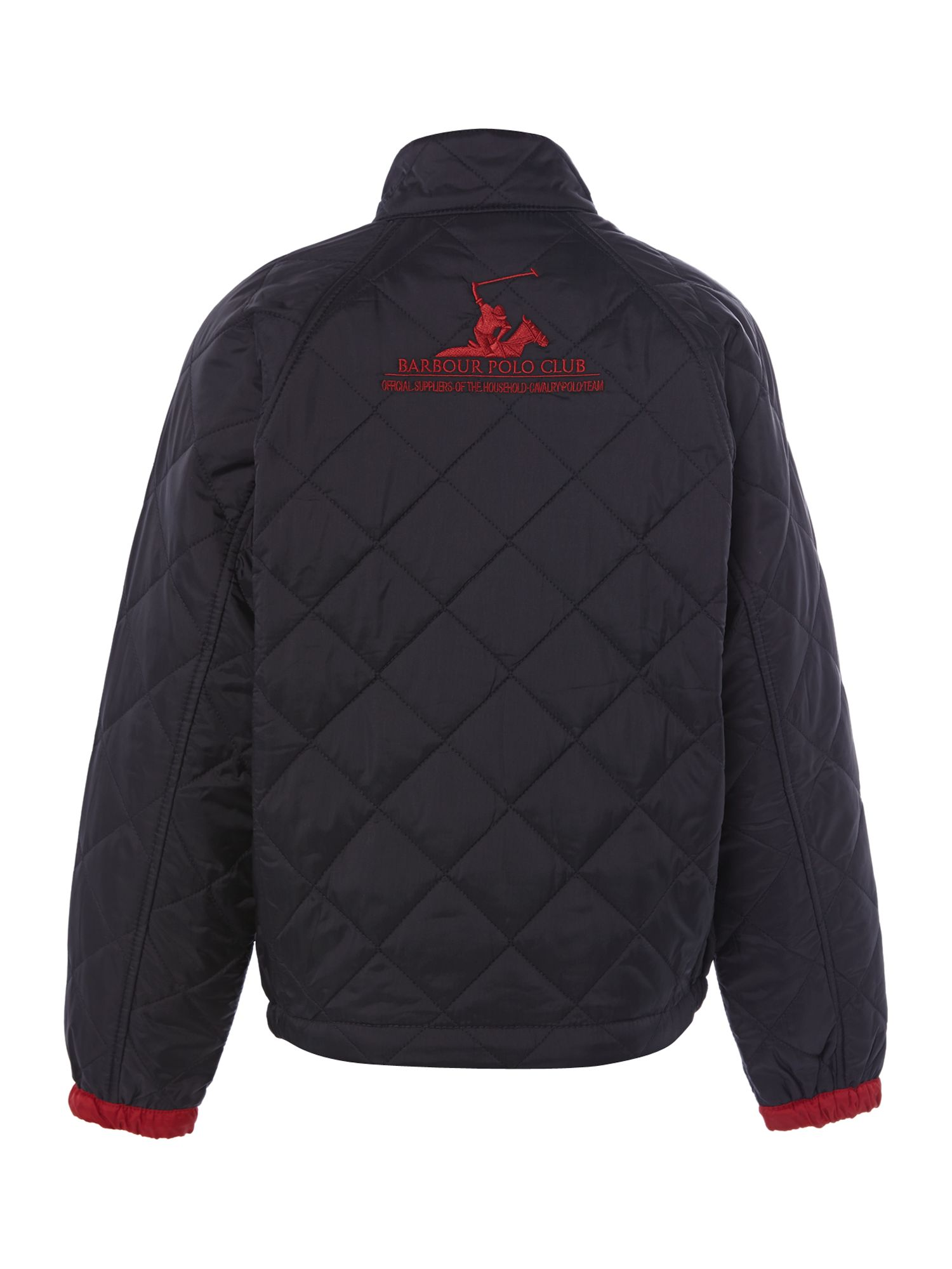 Boys Rambler quilted jacket with polo embroidery