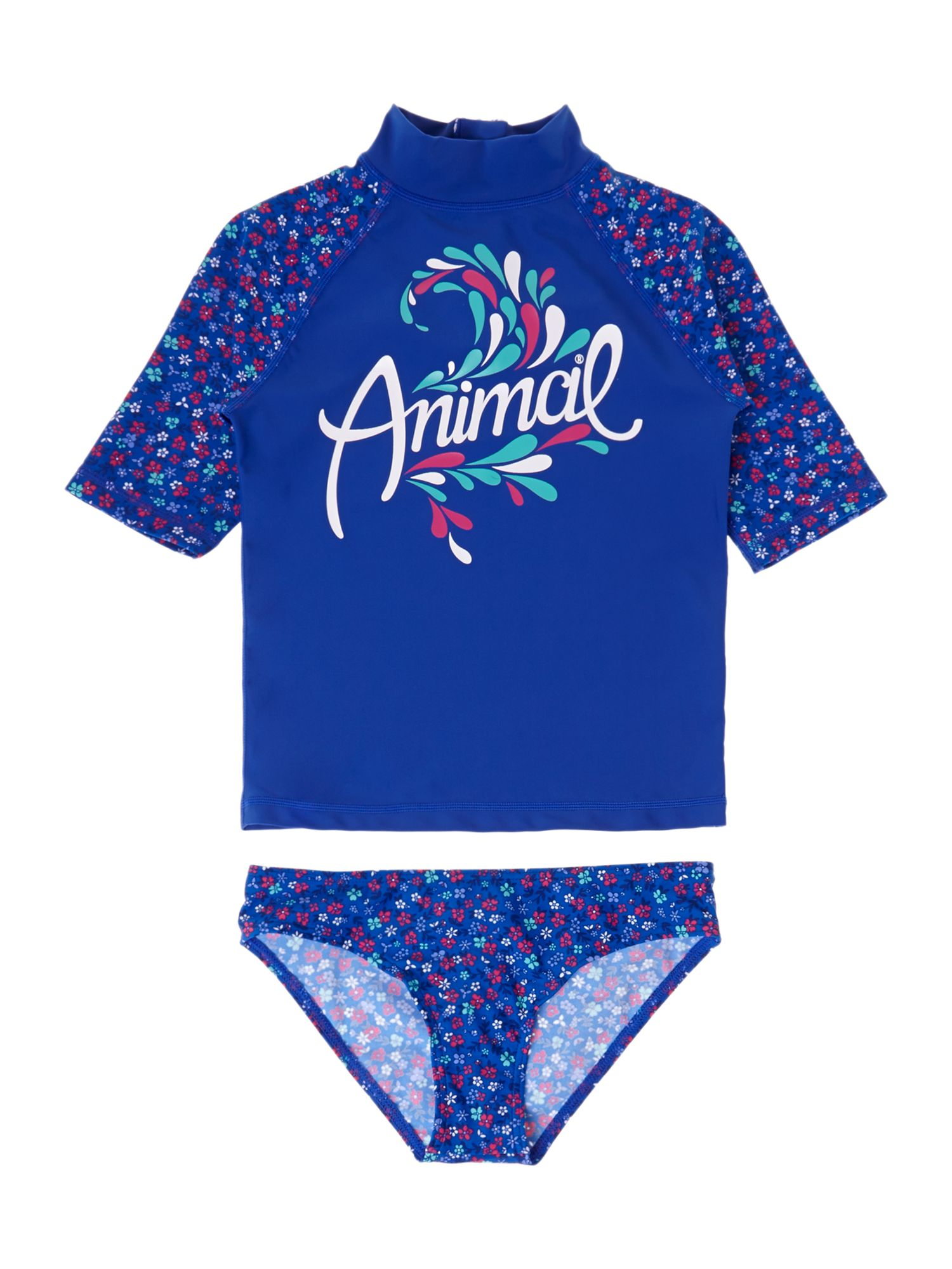 Girl`s pampered rash vest set
