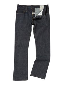 max indigo raw straight fit denim