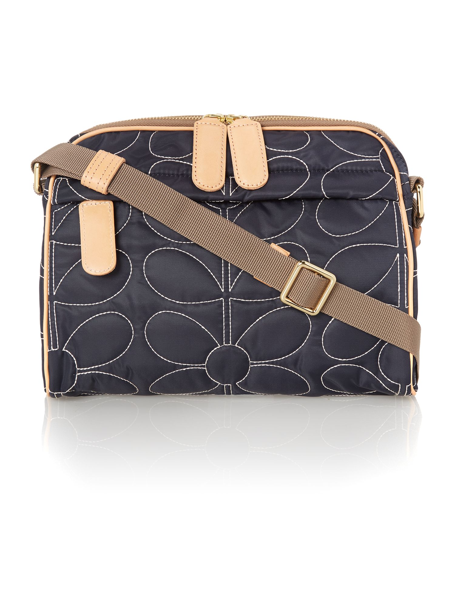 Sixties Stem navy cross body bag