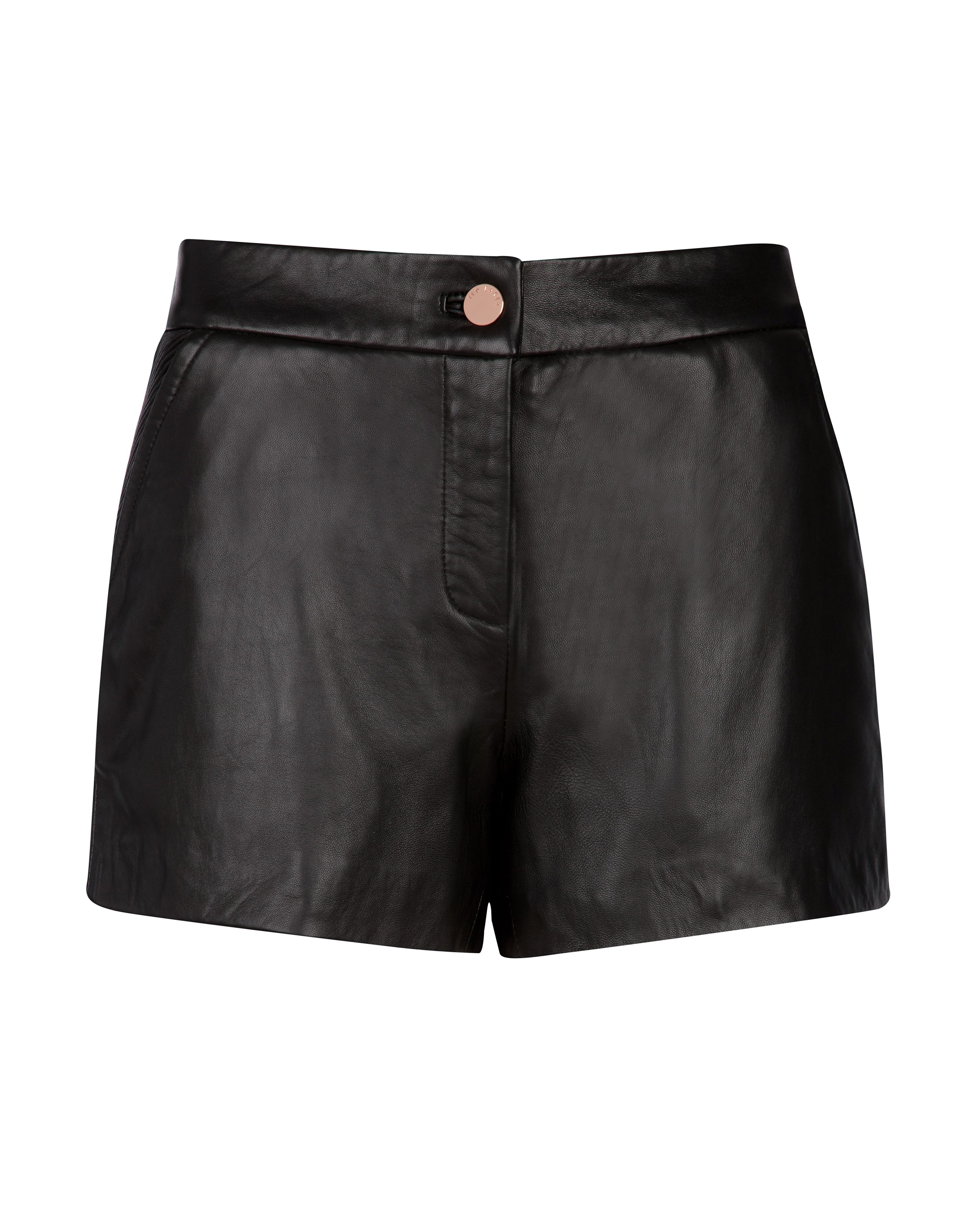 Devica leather shorts