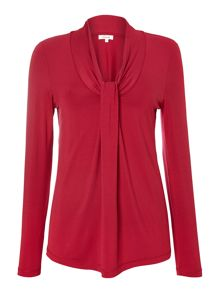 Essential knot detail L/S tunic top