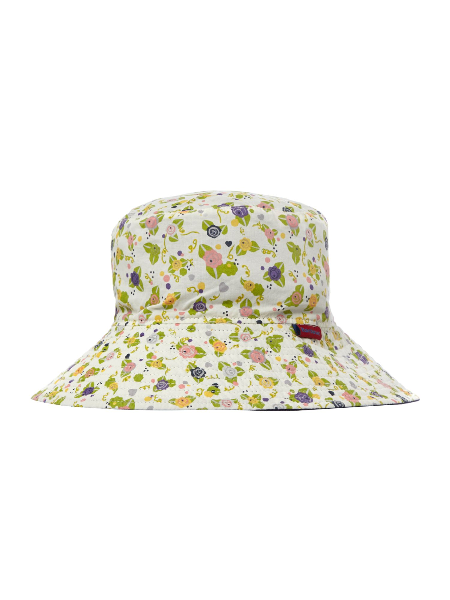 Girls fully reversible floral hat