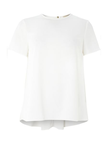 Michael Kors Crepe stretch tee with pleated back