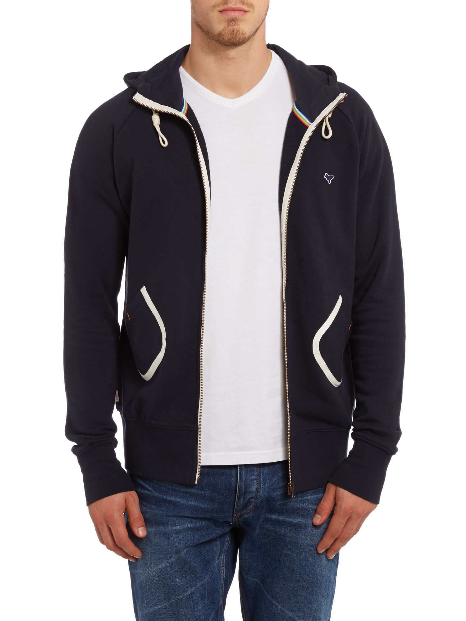 Two pocket zip up sweatshirt