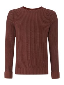 Rum raglan loose knitted jumper