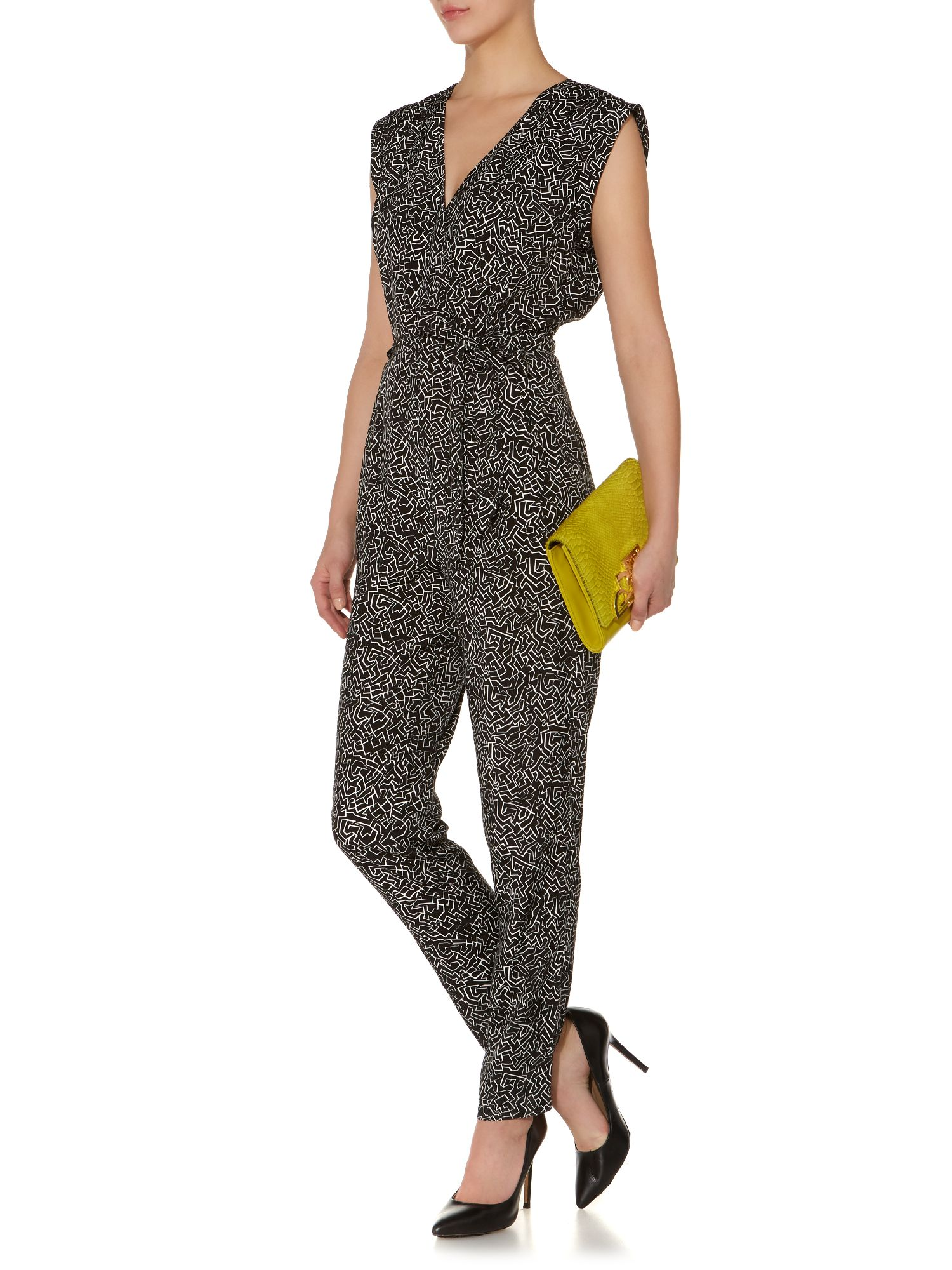 Monochrome printed jumpsuit