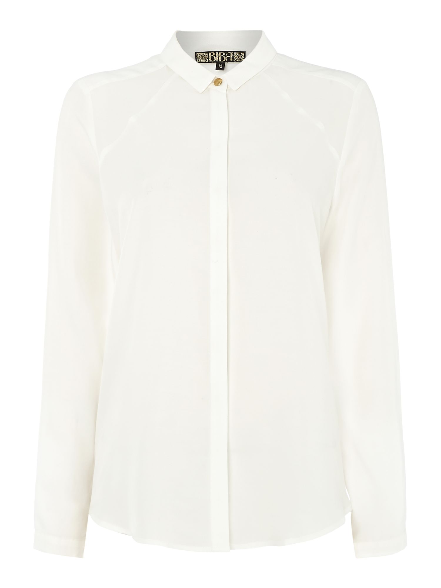 Harry Logo button detailed shirt in luxe fabric