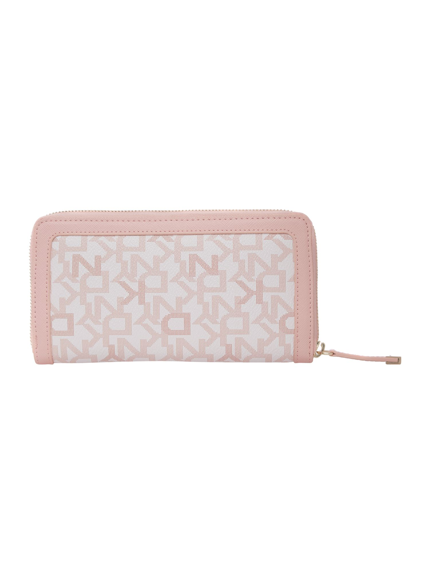 Coated logo pink large zip around purse