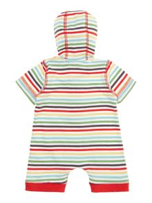 Baby rainbow stripe hooded romper