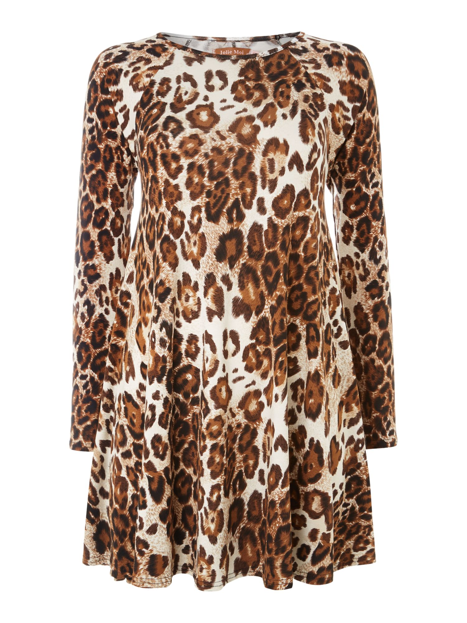 Animal print swing tunic
