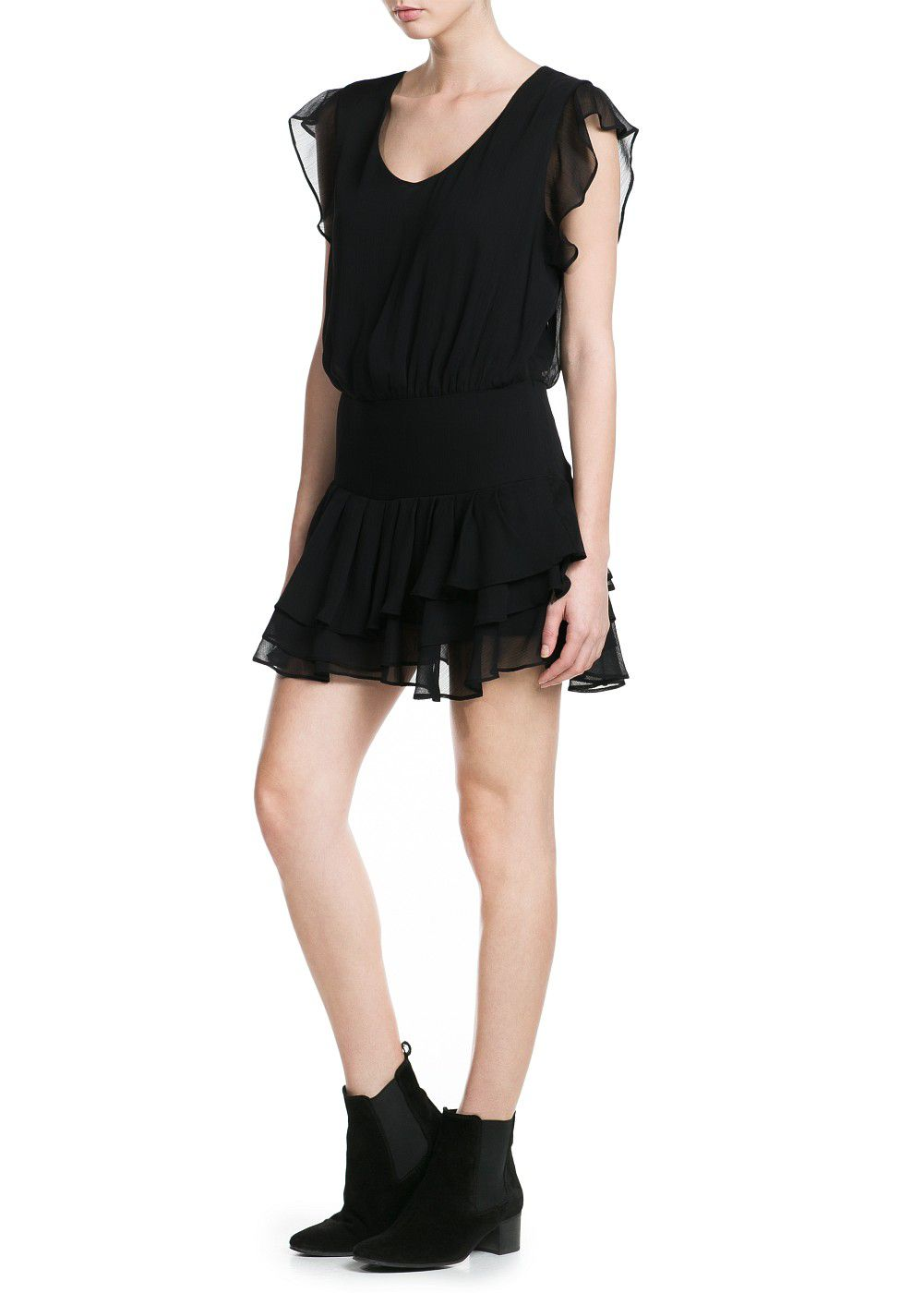 Chiffon ruffled dress