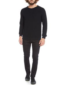 Vermouth ribbed chest and sleeve knitted jumper