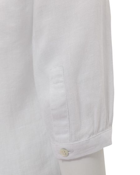 East Pintuck yoke linen shirt