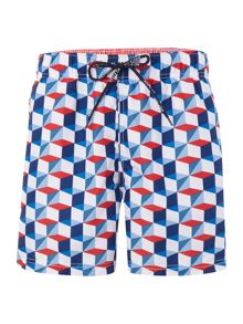 Geo cube all over print swim short