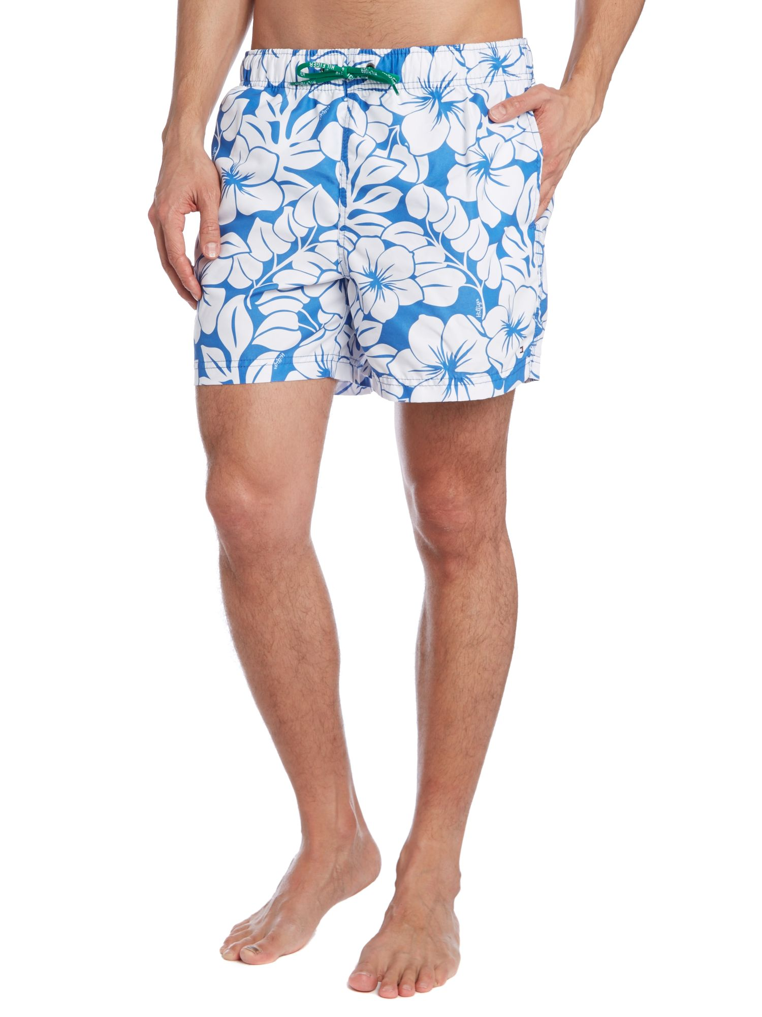 Hibiscus all over print swim short