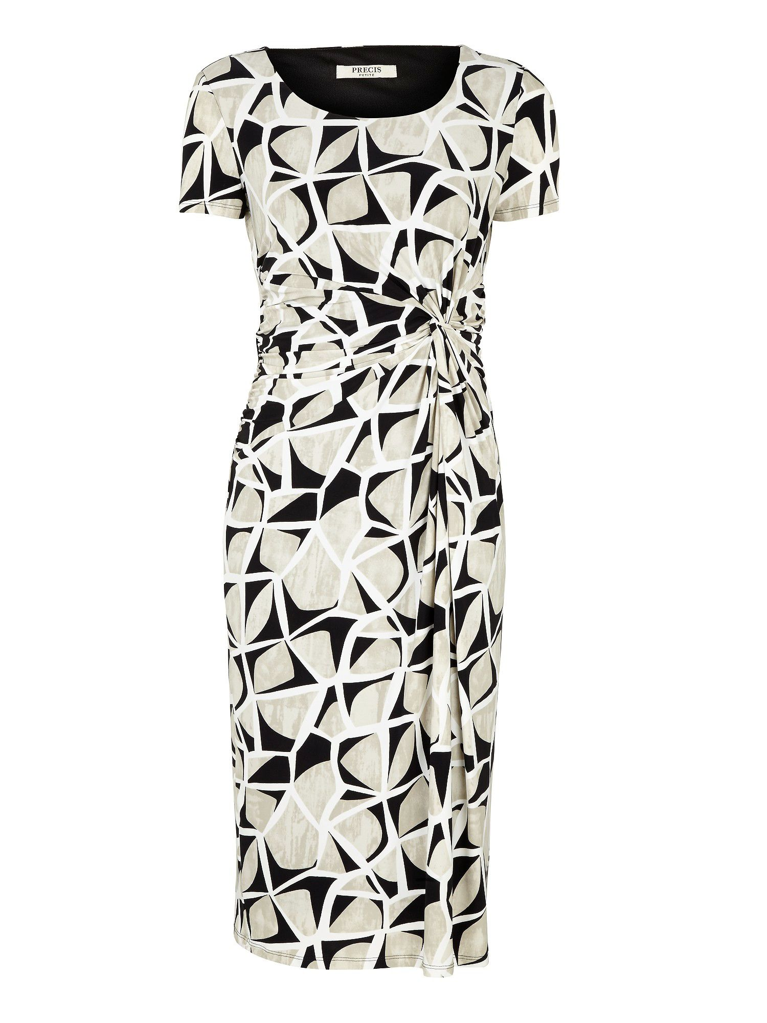 Abstract print jersey dress