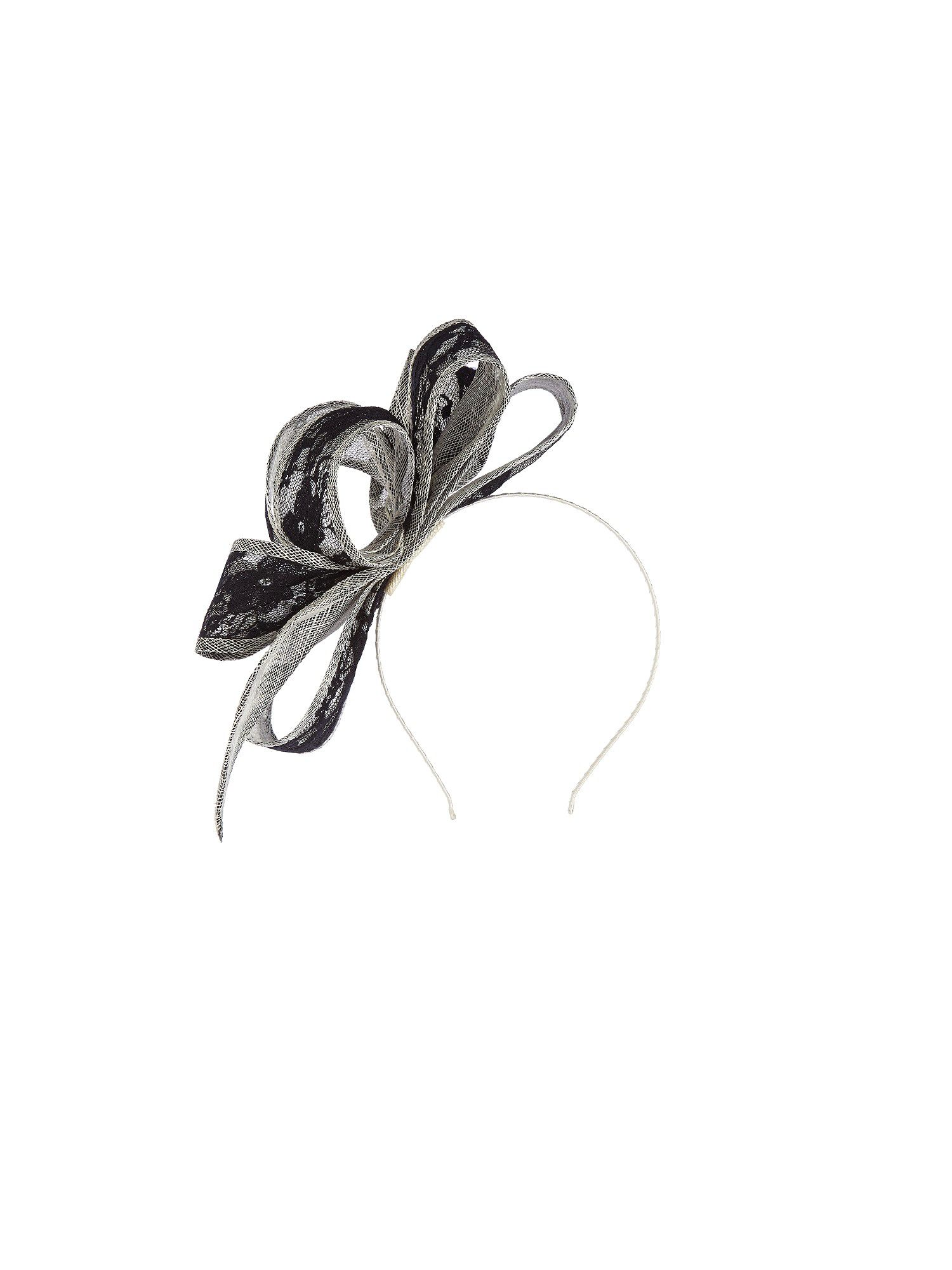 Black lace & oyster fascinator