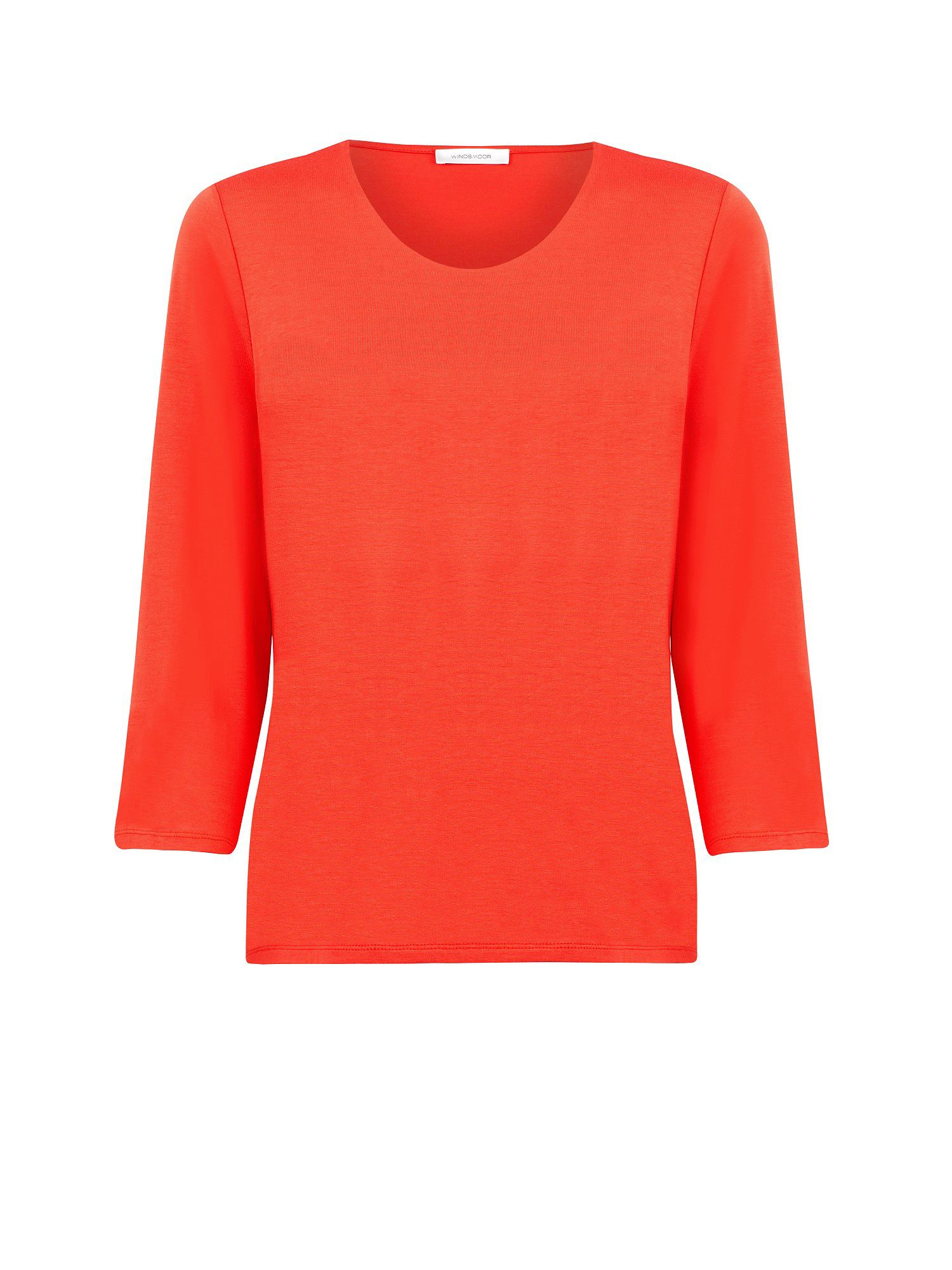 Sunset orange jersey top