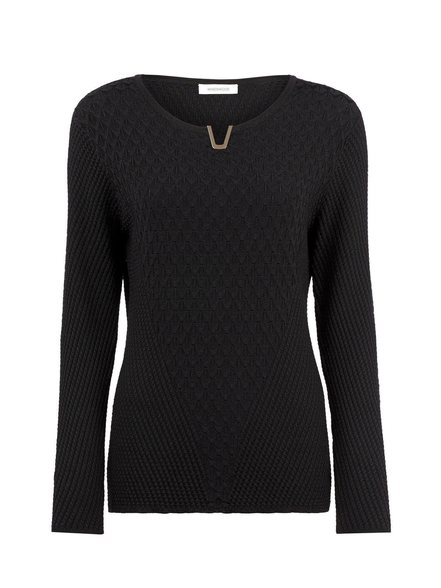 Black textured sweater