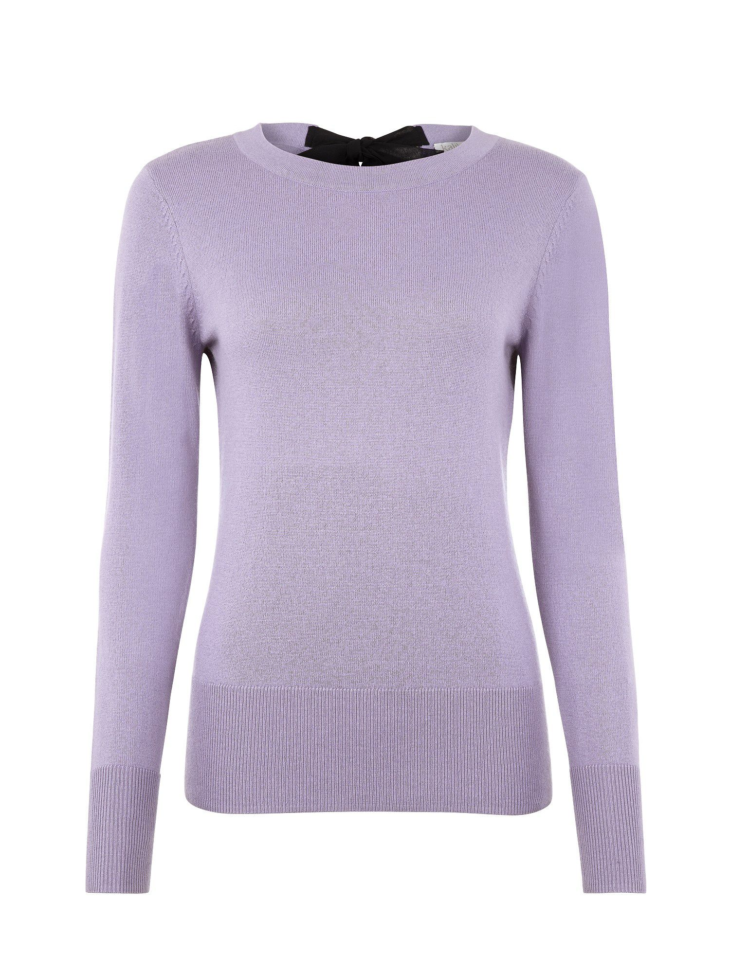 Lilac bow detail jumper