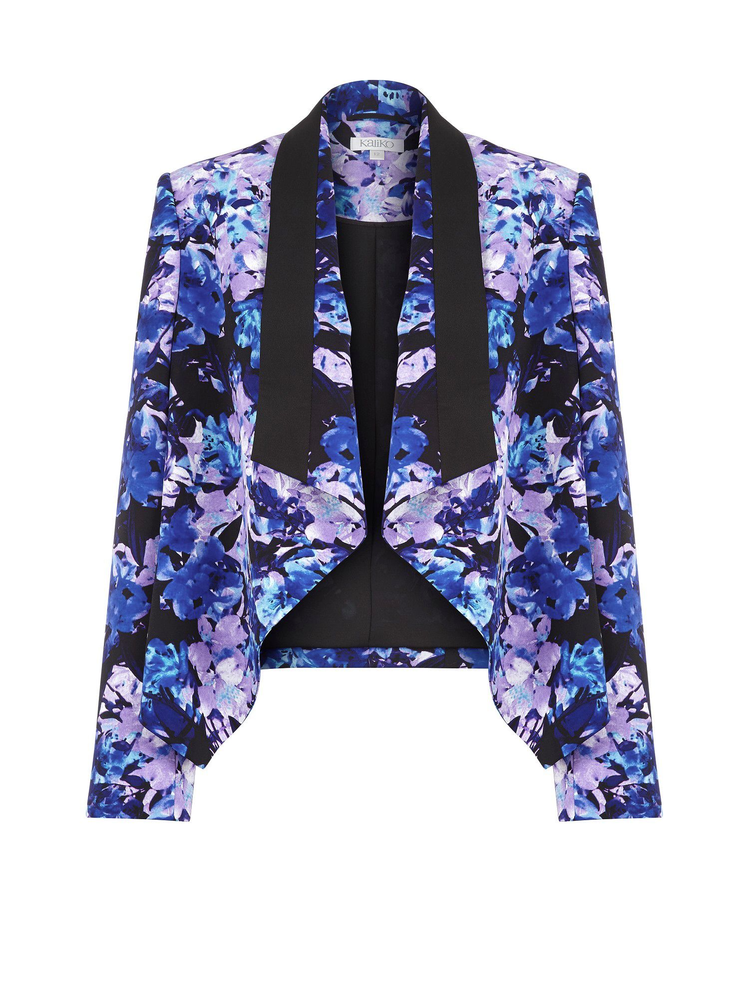 Honour print waterfall jacket