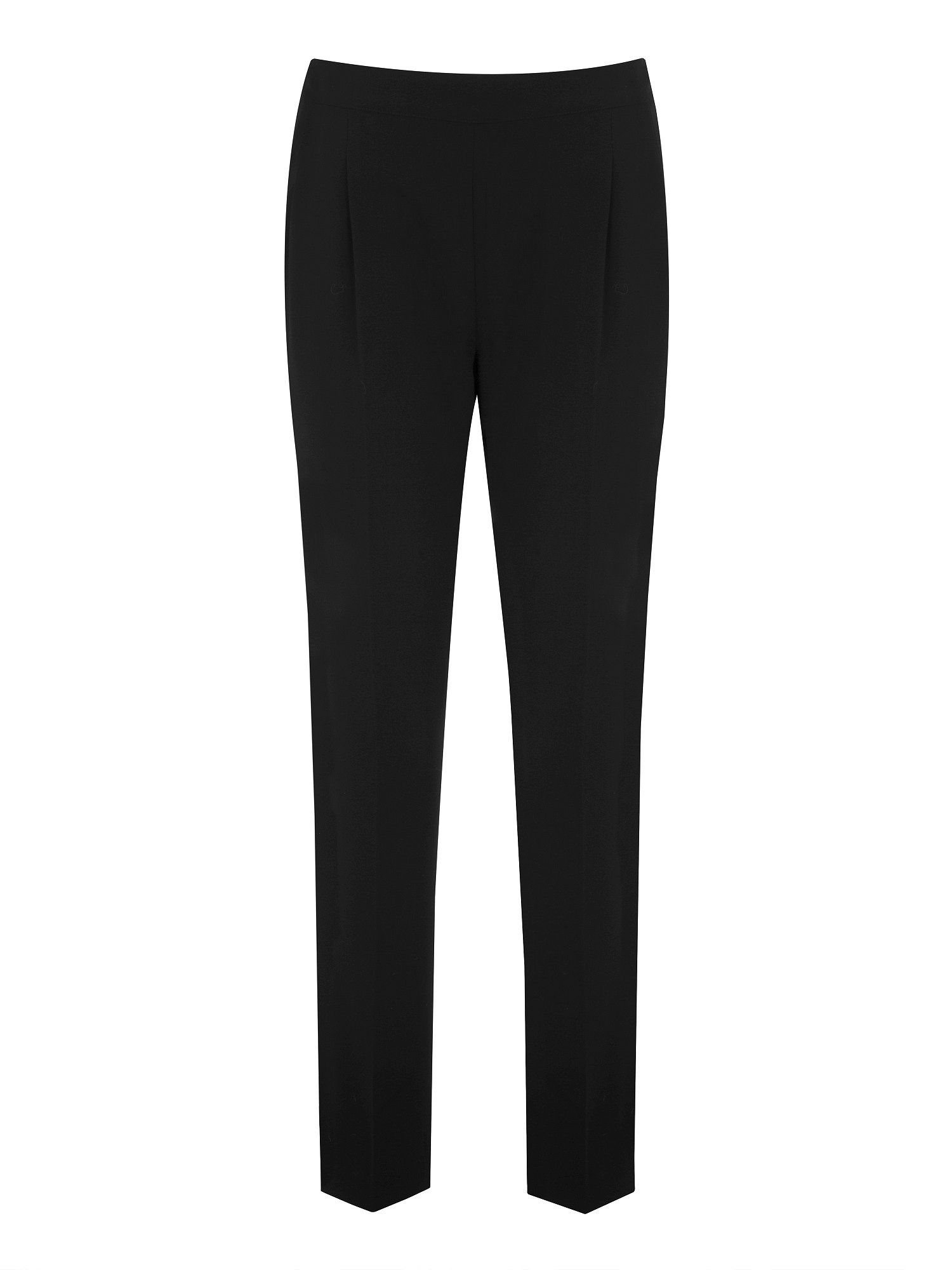 Black soft tapered trousers