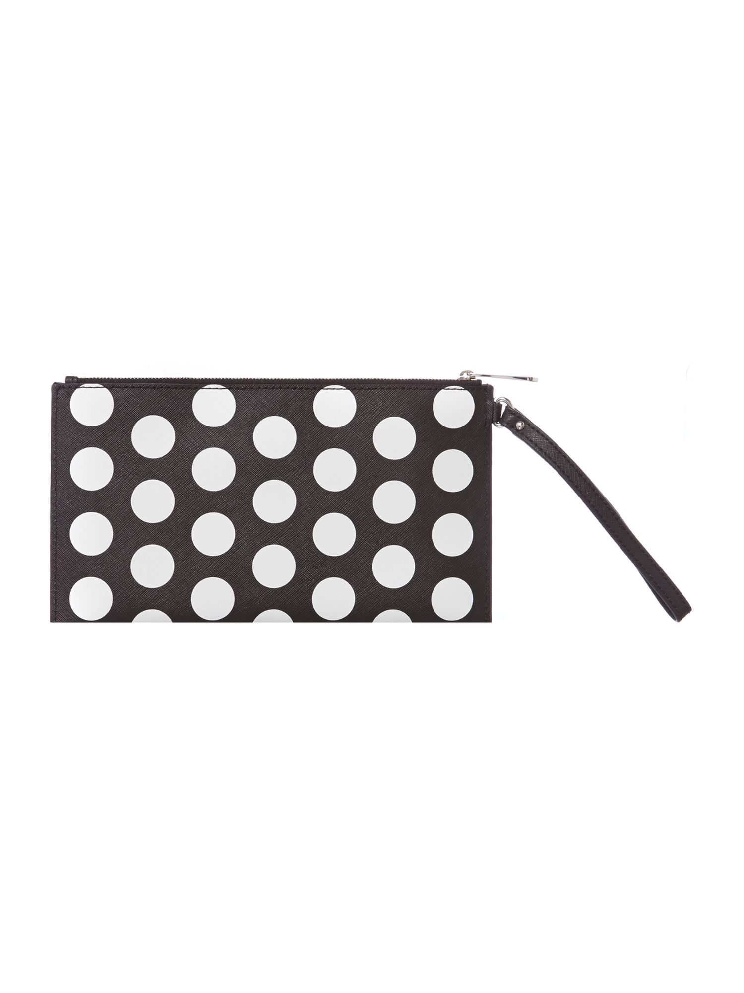 Mono dot clutch bag