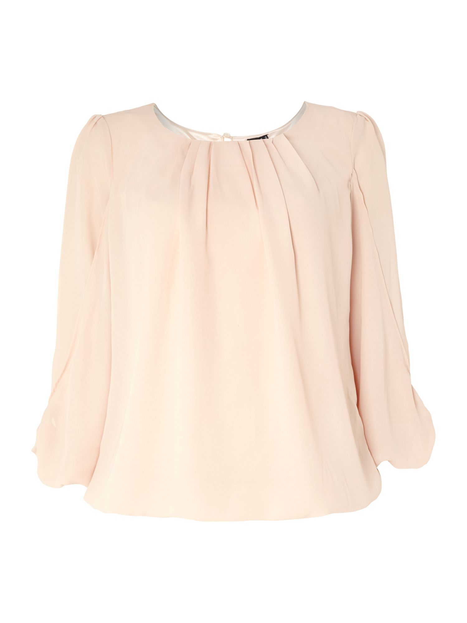 Chiffon top with arm detail