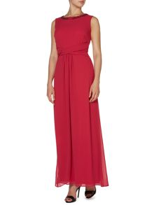 Margot jewel neck maxi dress
