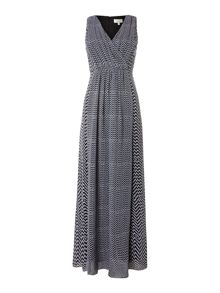 Mia georgette print maxi dress