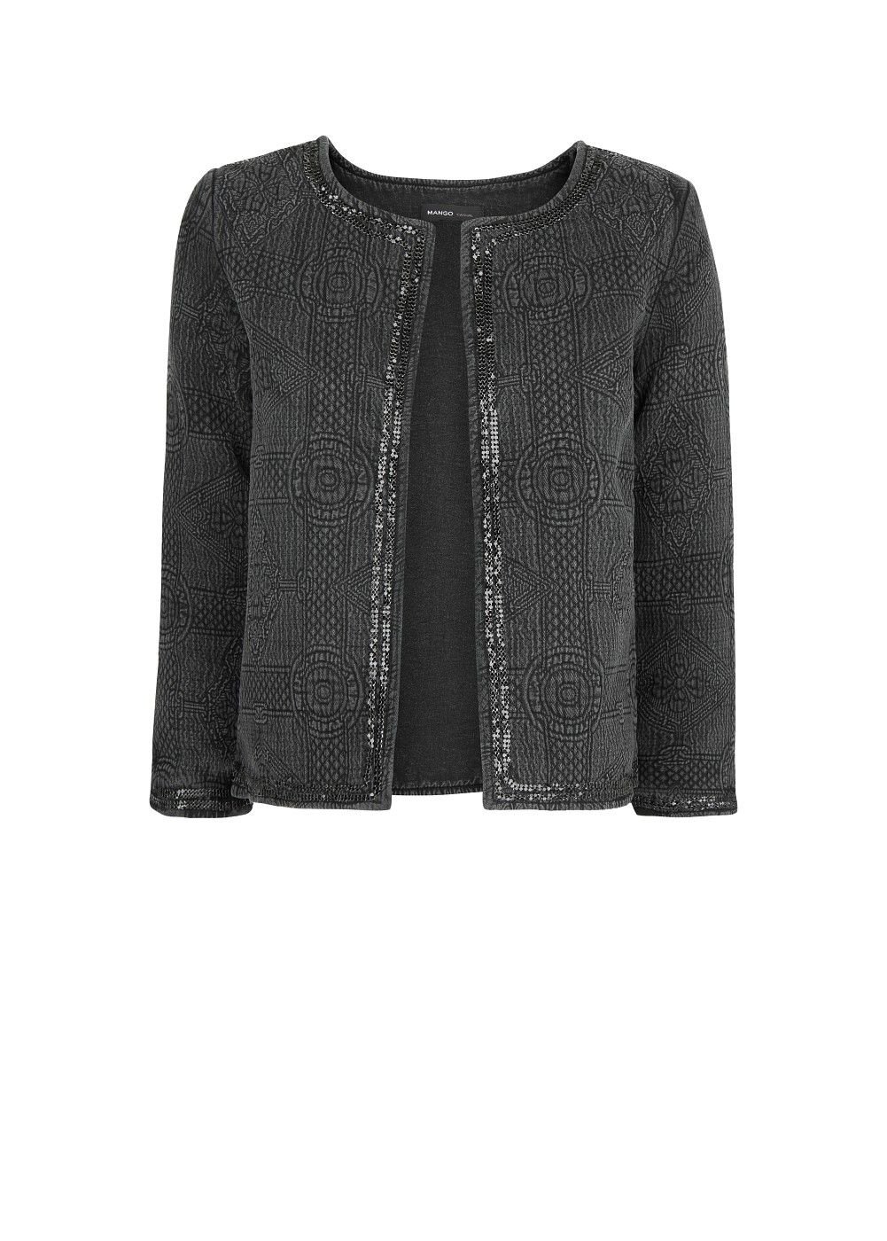 Trim textured jacket