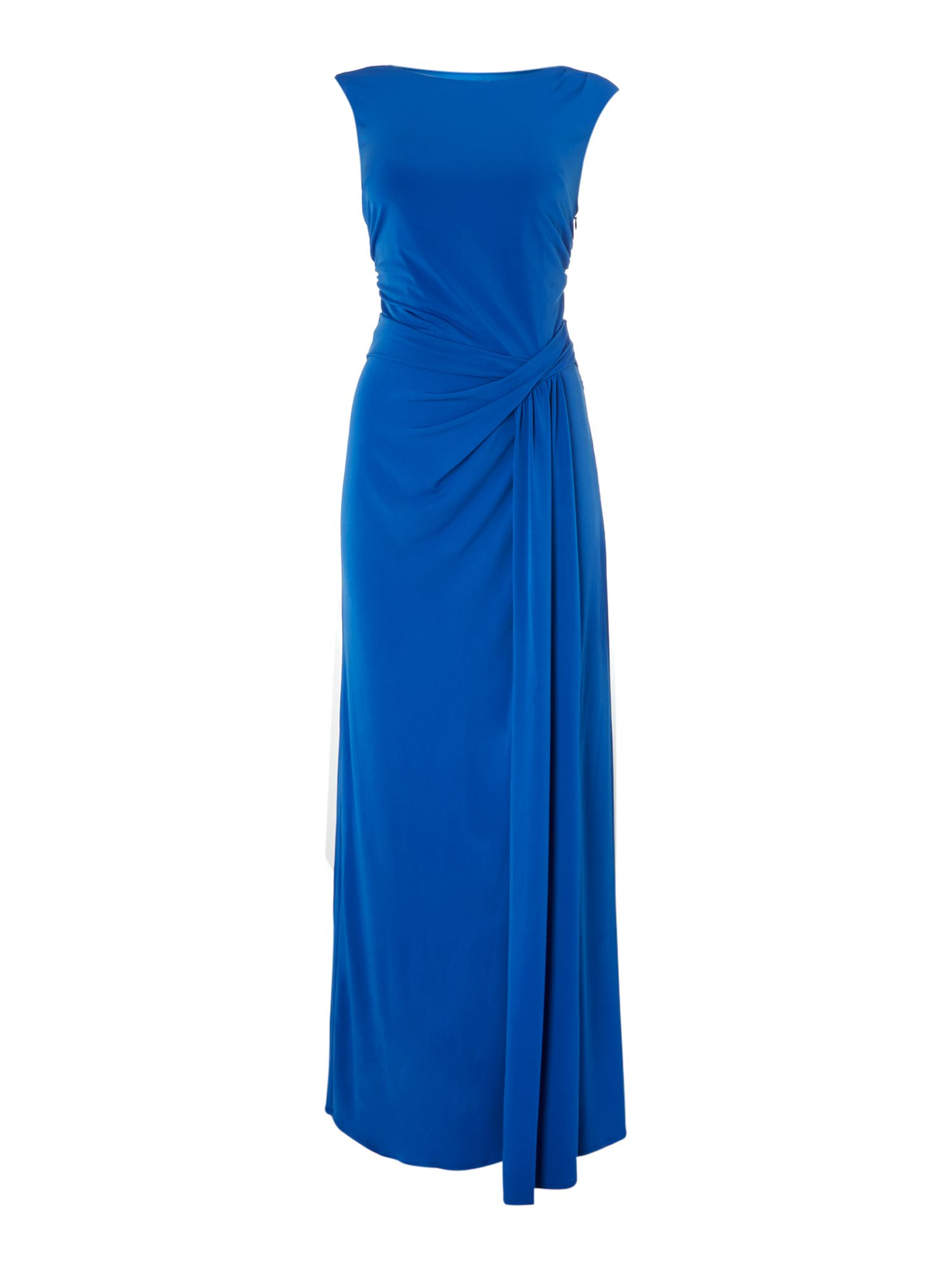 Marilyn side twist jersey maxi dress