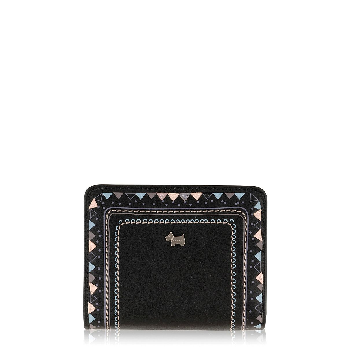 Eyre black medium flapover purse